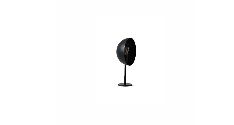 Lámpara de mesa con luz directa. Color negro.