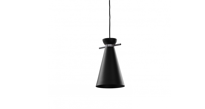 Lámpara de cielo con luz difusa. Color negro.