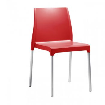 Silla Chloé Chair mon amour de Polipropileno en diferentes colores con estructura metálica
